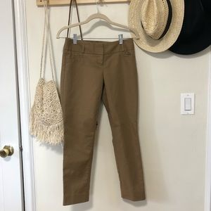 The Limited caramel brown dress pants trousers 0